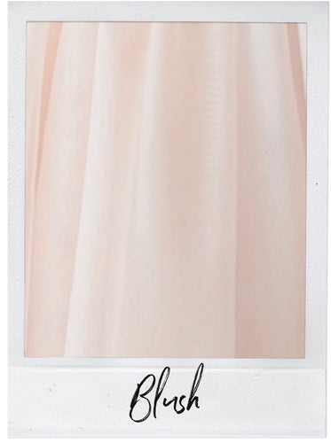 Blush Satin and Tulle Swatch