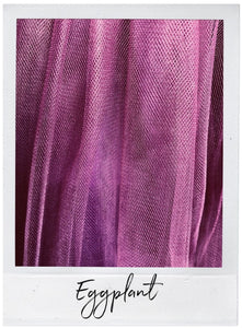 Eggplant Satin and Tulle Swatch