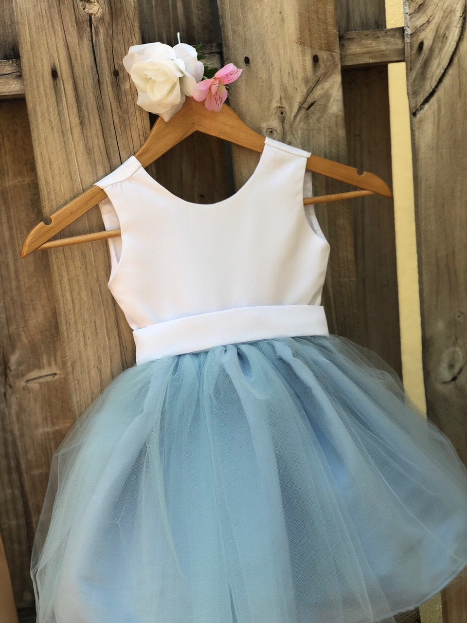 Dusty Blue Sarah Flower Girl Dress