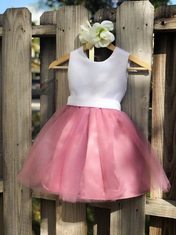 Image of Dusty Rose flower girl dress, Dusty Rose Flower Girl dresses 3
