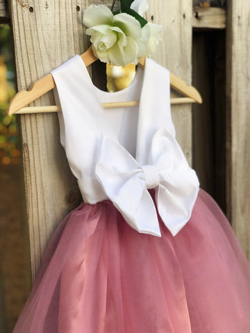 Image of Dusty Rose flower girl dress, Dusty Rose Flower Girl dresses 4