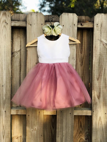 Image of Dusty Rose flower girl dress, Dusty Rose Flower Girl dresses 5
