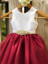 Load image into Gallery viewer, Sarah Flower Girl dress with rhinestones