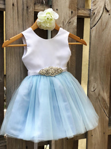 Dusty Blue Flower Girl Dress, Dusty Blue Flower Girl Dresses 1