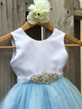 Load image into Gallery viewer, Dusty Blue Flower Girl Dress, Dusty Blue Flower Girl Dresses 2