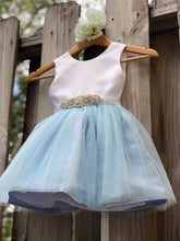 Load image into Gallery viewer, Dusty Blue Flower Girl Dress, Dusty Blue Flower Girl Dresses 3