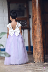 Lilac flower girl dress