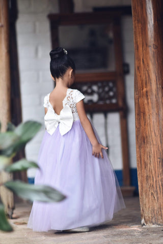 Image of Lilac flower girl dress