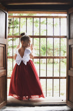 Load image into Gallery viewer, Burgundy Flower Girl Dress, Tulle Flower Girl Dresses, Custom Sizes