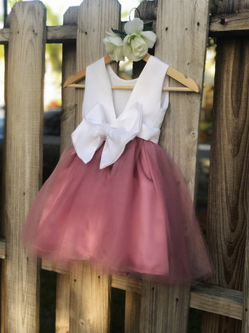 Image of Dusty Rose flower girl dress, Dusty Rose Flower Girl dresses 2
