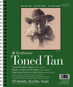 Strathmore Toned Sketch Pads 400 Series
