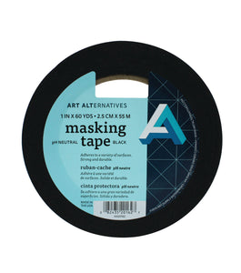 pH Neutral Black Masking Tapes