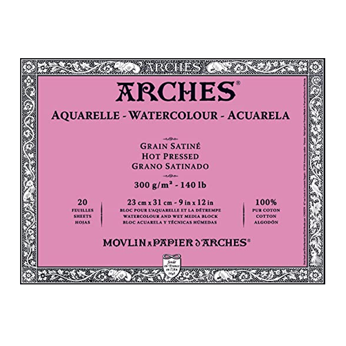 Arches Hot Press Watercolor Block