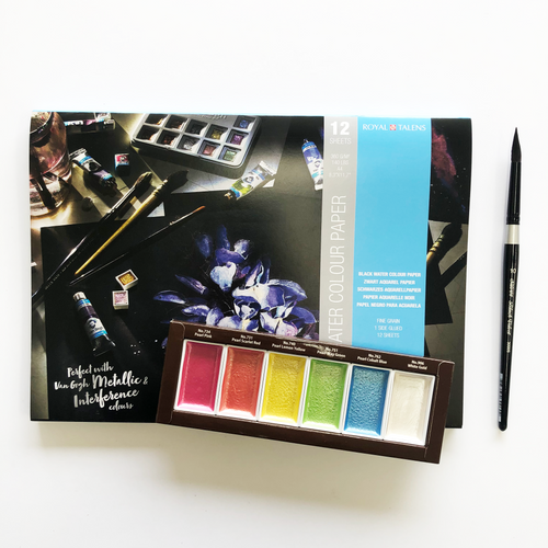 Holiday Kit - Black Pearl Watercolor Set