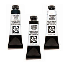 Daniel Smith Extra-Fine Watercolors - 15ml - Black, Whites and Grays
