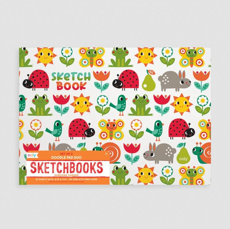 Sunshine Garden Doodle Pad Sketchbooks - Set of 2