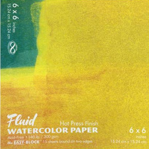 Fluid Watercolor Paper Hot Press Easy-Blocks