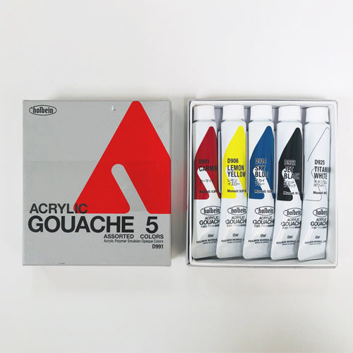 Acryla Gouache 5-Color 12ml Introduction Set