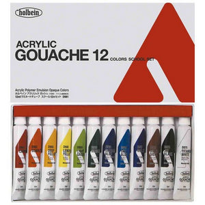 Acryla Gouache 12-Color 12ml Study Set