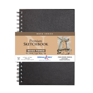 Stillman & Birn, Nova Series Beige Toned Wirebound Sketchbooks, Various Sizes