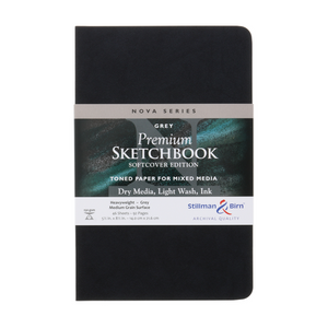 Stillman & Birn, Nova Series Grey Toned Softbound Sketchbooks, Various Sizes