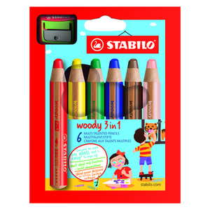 STABILO Woody 3 in 1 Pencil Sets