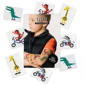 Tattly - Go Go Animals Mix Temporary Tattoo's