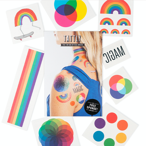 Tattly - Rainbow Mix Temporary Tattoo's