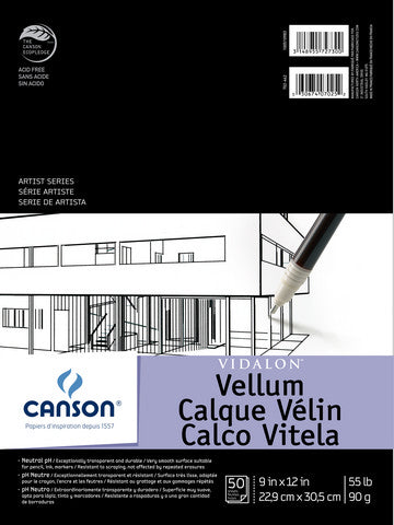 Canson Vidalon Vellum Pads and Sheets