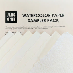 ARCH Watercolor Paper Sampler Pack