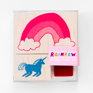 Unicorn & Rainbow Small Stamp Kit from Yellow Owl Workshop