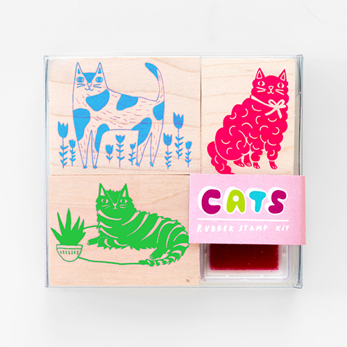 Cats Small Stamp Kit from Yellow Owl Workshop
