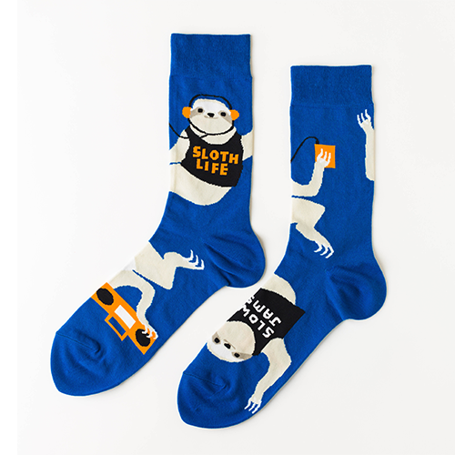 Men's Sloth Life Crew Socks by Yellow Owl Workshop