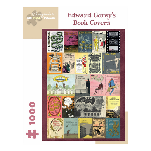 Edward Gorey Book Covers Puzzle (1,000 Pieces)