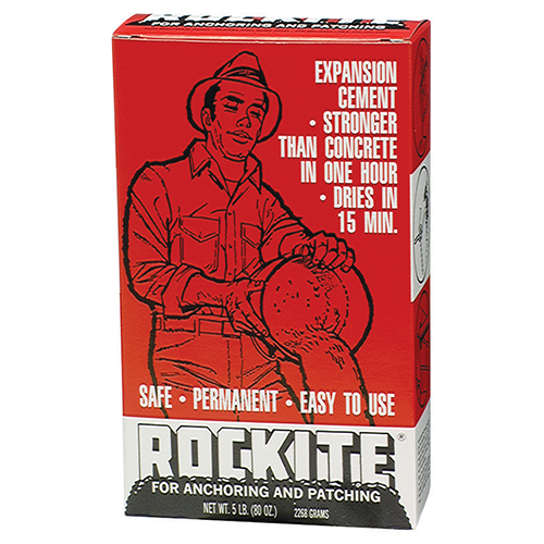 Rockite Expansion Cement, Gray, 5lbs