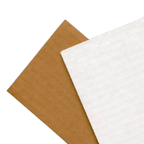 Single Ply Cardboard, One Side White (48