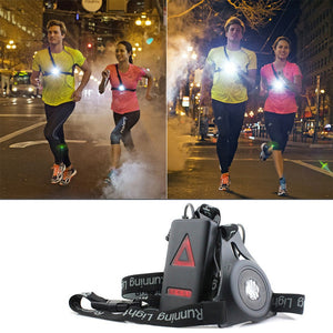 LED Running Lights with Flashlight Warning & USB Charging Cable