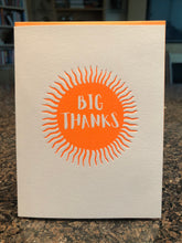 Big Thanks in a sun, tangerine colour