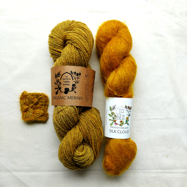 "NEW IN; YELLOW Making Kit ""Late Bloomer Mittens"" - The naturally dyed version"