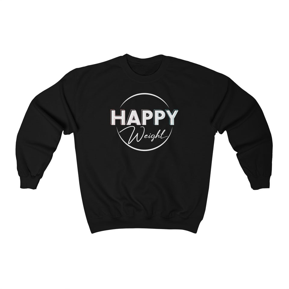 Happy Weight Logo Heavy Blend™ Crewneck Unisex Sweatshirt