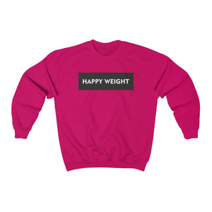 Happy Weight Border Heavy Blend™ Crewneck Unisex Sweatshirt
