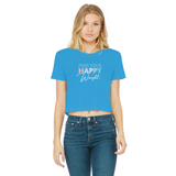 Find Your Happy Weight Cropped Raw Edge T-Shirt