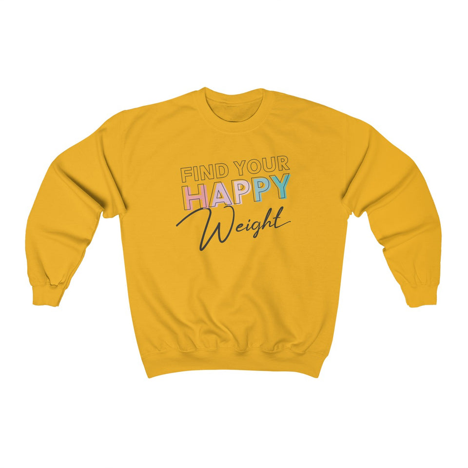 Find Your Happy Weight Heavy Blend™ Crewneck Unisex Sweatshirt