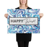Happy Weight Marble Blue Canvas