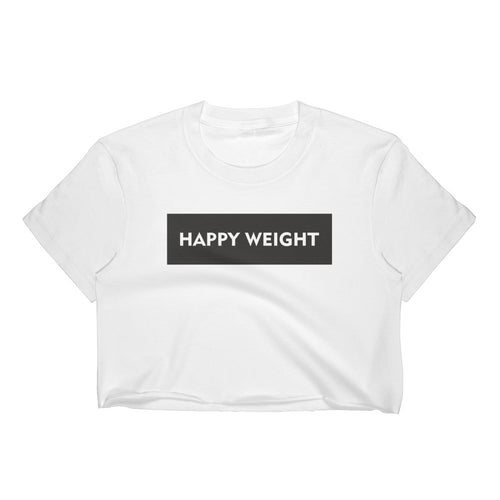 Happy Weight Rectangle Cropped T-Shirt