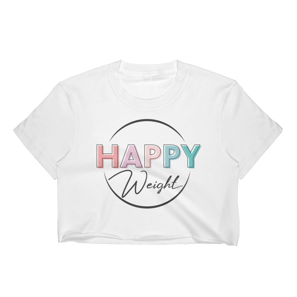 Happy Weight Colorful Logo Women's Crop Top