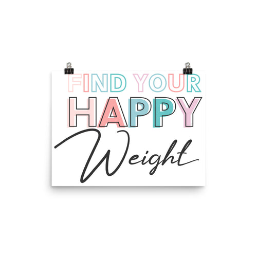 Find Your Happy Weight Enhanced Matte Paper Poster