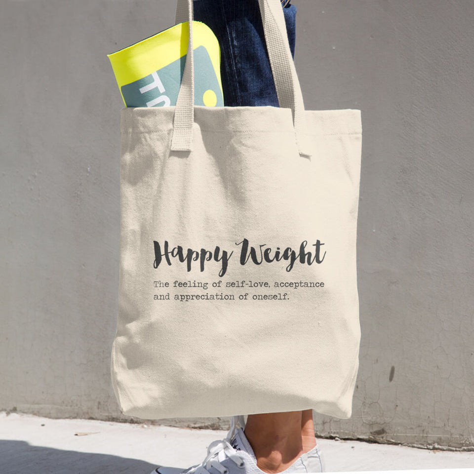 Happy Weight Defined Woven Cotton Tote