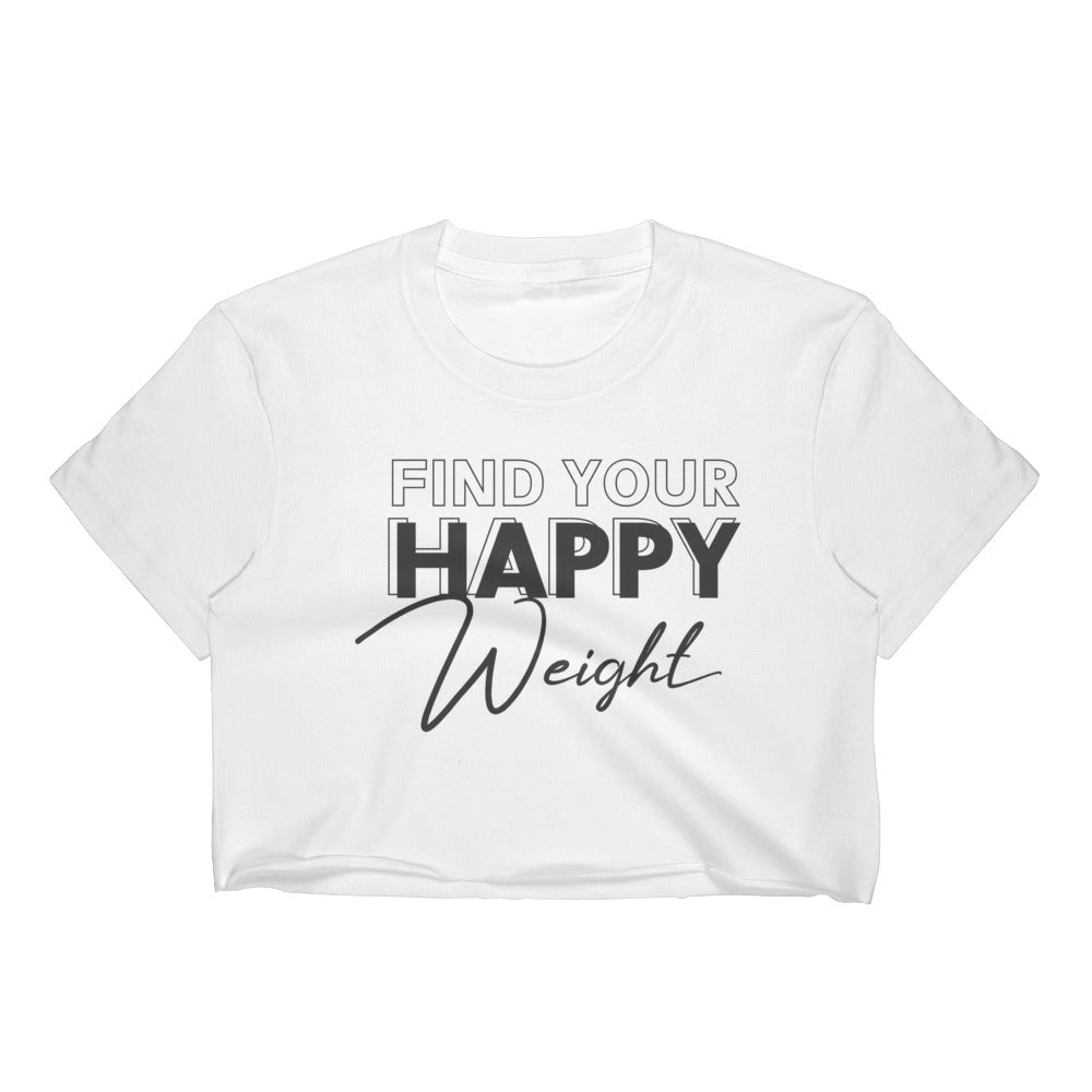 Find Your Happy Weight Black-Print Crop Top