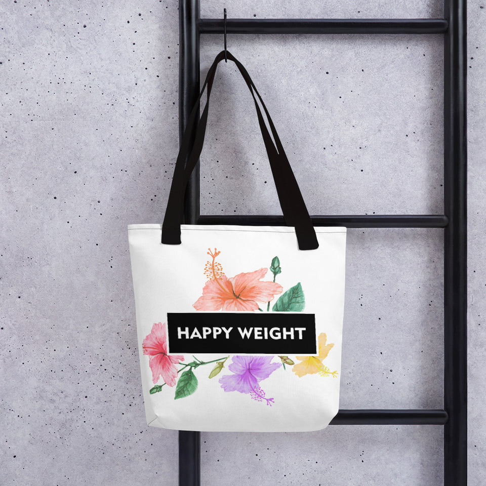 Happy Weight Hibiscus Tote
